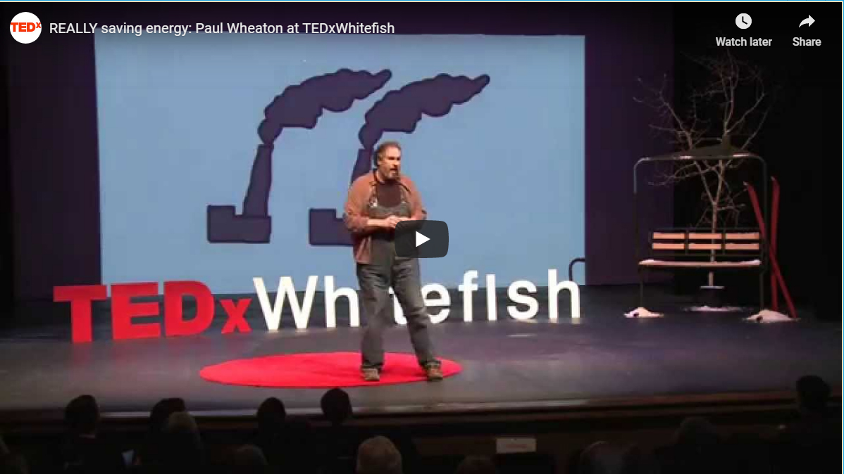 Paul Wheaton TED talk on really saving energy